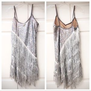 COSTUME GALLERY | Silver Fringe Tap/Jazz Costume L